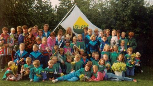 Groepsfoto met SVN-leden in 1993